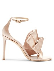 Jimmy Choo Kami 100Mm Satin Sandals Light Pink