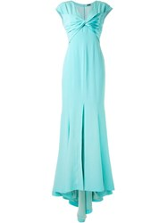 Alexis Mabille Twisted Front Evening Dress Green