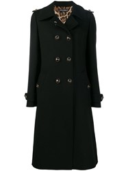 Dolce And Gabbana Double Breasted Coat Black