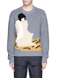 3.1 Phillip Lim Ukiyo E Intarsia Wool Sweater Grey