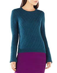 Bcbgmaxazria Caleigh Cable Knit Sweater Green