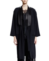 Givenchy 3 4 Sleeve Open Front Coat Black Women's