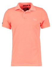 Superdry Polo Shirt Fluro Coral