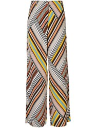 Tory Burch Mixed Stripe Trousers Multicolour
