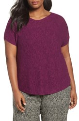 Eileen Fisher Plus Size Women's Organic Linen And Cotton Rib Sweater Red