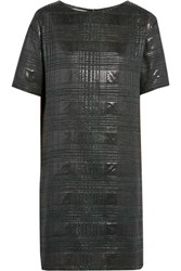 Marni Metallic Jacquard Mini Dress Gunmetal