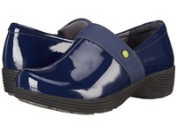 Work Wonders By Dansko Camellia Navy Patent Women's Clog Shoes Blue