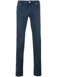 Jacob Cohen Slim Fit Trousers Blue