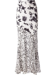 Haute Hippie Mixed Prints Maxi Skirt White