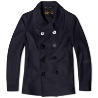 Gloverall Reefer Pea Coat Indigo