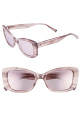 Kendall Kylie 53Mm Cat Eye Sunglasses Rose Horn
