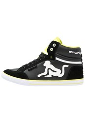 Drunknmunky Boston Classic Hightop Trainers Black Lime
