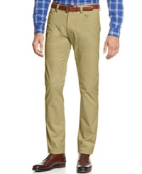 Calvin Klein Men's Sateen Slim Fit Pants Classic Khaki
