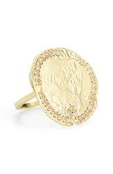 Lara Melchior Women's 'V' Diamond And Vermeil Statement Ring