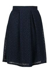Wal G Co Ord Lace Midi Skirt By Navy Blue