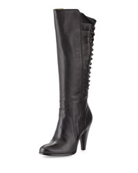 Frye Mikaela Twisted Tall Leather Boot Black Women's