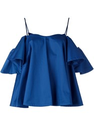 Anna October Ruffle Sleeve Camisole Top Blue