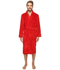 Jockey Sculptured Striped Fleece Robe Red Men's Robe