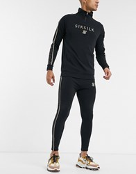 Sik Silk Siksilk X Dani Alves Track Pants With Branded Waistband Black
