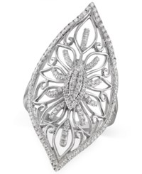 Macy's Certified Diamond Filigree Ring 1 3 Ct. T.W. In Sterling Silver