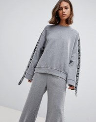 Cheap Monday Further Tape Sleeve Sweatshirt Grey Melange