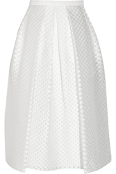 Burberry Polka Dot Fil Coupa Midi Skirt