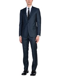 Versace Collection Suits Dark Blue