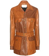 Chloe Leather Jacket Brown