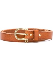 Closed Metallic Buckle Belt Nude And Neutrals