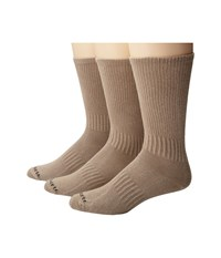 Carhartt Work Wear Flat Knit Crew Socks 3 Pack Khaki Men's Crew Cut Socks Shoes