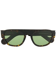 Moncler Eyewear Rectangular Shield Sunglasses Brown