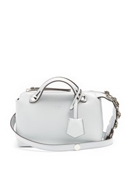 Fendi By The Way Mini Embellished Leather Cross Body Bag Light Blue