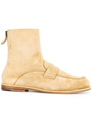 Loewe Loafer Ankle Boots Nude Neutrals