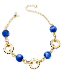Kate Spade New York Gold Tone Blue Statement Necklace
