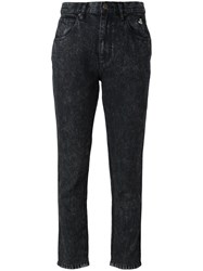 Marc Jacobs Acid Wash Slim Jeans Black