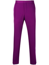Calvin Klein Mid Rise Tailored Trousers Purple