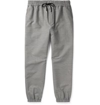 Mcq By Alexander Mcqueen Tapered Puppytooth Cotton And Wool Blend Trousers Black