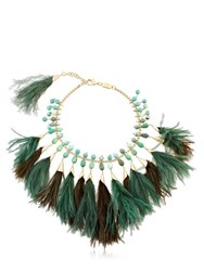 Rosantica Faggio Feathered Necklace