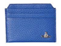 Vivienne Westwood Leather Card Holder Blue Credit Card Wallet