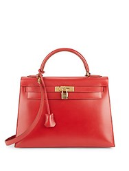 Herm S Red Gold Hardware Box Kelly 32