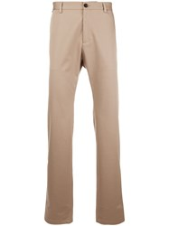 Versace Slim Fit Trousers Nude And Neutrals