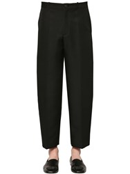 Balenciaga Tailored Stretch Wool Pants Black