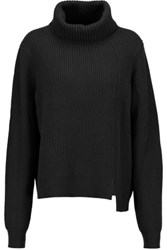 Proenza Schouler Ribbed Wool And Cashmere Blend Turtleneck Sweater Black