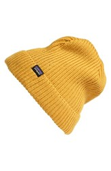 Men's Patagonia 'Fisherman' Beanie Yellow Prarie Gold
