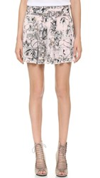 Twelfth St. By Cynthia Vincent Pleated Skirt Blush Garden Floral