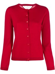 Red Valentino Lightweight Knitted Cardigan Red
