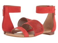 Tahari Dance Coral Kid Suede Women's Sandals Red