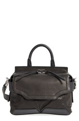 Rag And Bone 'Small Pilot' Lambskin Leather Satchel Black