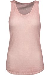 Majestic Ribbed Cotton Cashmere And Silk Blend Tank Antique Rose