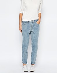 Vila Relaxed Fit Straight Leg Jeans Blue